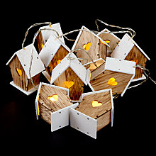 Buy John Lewis 10 Snowy Birdhouse Lights, Natural/White Online at johnlewis.com