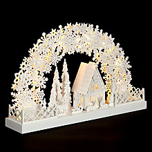 Buy John Lewis White Snowflake Arch, Large Online at johnlewis.com