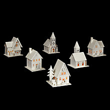 Buy John Lewis, Tabletop Snowy Village Building Online at johnlewis.com