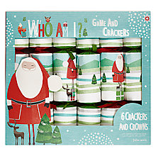 Buy John Lewis Who Am I? Santa Crackers, Pack of 6 Online at johnlewis.com