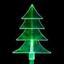 Buy John Lewis 5 Acrylic Tree Stakes, Green Online at johnlewis.com
