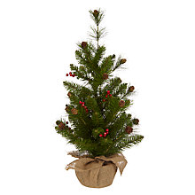 Buy John Lewis Midwinter Bailess Berry and Pine Cone Tree Online at johnlewis.com
