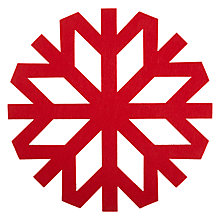 Buy John Lewis Snowflake Place Mat, Red, Set of 4 Online at johnlewis.com