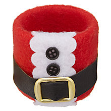 Buy John Lewis Santa Napkin Ring, Set of 4 Online at johnlewis.com