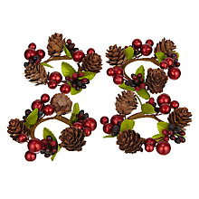 Buy John Lewis Berries and Acorns Napkin Rings, Set of 4 Online at johnlewis.com