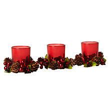Buy John Lewis Berries and Acorns Votive Candles, Set of 3 Online at johnlewis.com
