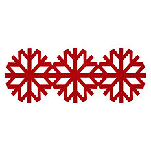 Buy John Lewis Snowflake Runner, Red Online at johnlewis.com