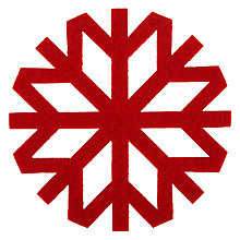 Buy John Lewis Red Snowflake Coaster, Set of 4 Online at johnlewis.com