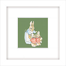 Buy Beatrix Potter - Rabbit Family, Green, 23 x 23cm Online at johnlewis.com