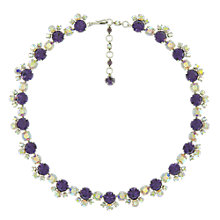 Buy Eclectica Vintage 1950s Sherman Crystal Necklace, Purple Online at johnlewis.com