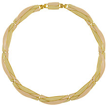 Buy Eclectica Vintage 1980s Monet Enamel Gold Plated Necklace, Pink Online at johnlewis.com