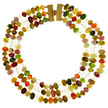 Buy Eclectica Vintage 1980s Monet Collar Beaded Gold Plated Necklace, Multi Online at johnlewis.com