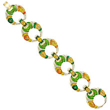 Buy Eclectica Vintage 1970s Enamel Gold Plated Bracelet, Orange Online at johnlewis.com
