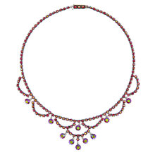 Buy Eclectica Vintage 1950s Crystal Rhodium Plated Necklace, Pink Online at johnlewis.com