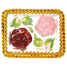 Buy Eclectica Vintage 1940s French Perspex Gold Plated Brooch, Pink Online at johnlewis.com