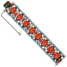 Buy Eclectica Vintage 1960s Jewelled Japanned Bracelet, Coral Online at johnlewis.com