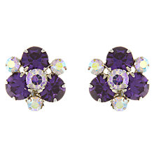 Buy Eclectica Vintage 1950s Sherman Chrome Plated Clip-On Earrings, Purple Online at johnlewis.com