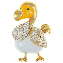 Buy Eclectica Vintage 1980s Attwood & Sawyer Dodo Gold Plated Brooch, Gold Online at johnlewis.com