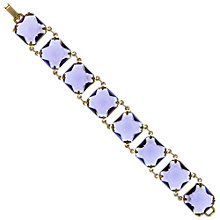 Buy Eclectica Vintage 1970s Chunky Glass Gold Plated Bracelet, Purple Online at johnlewis.com