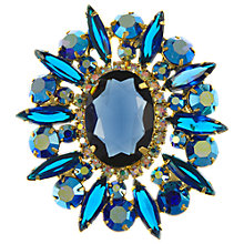 Buy Eclectica Vintage 1950s Julianna Rhinestone Brooch, Blue Online at johnlewis.com