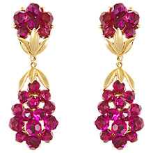 Buy Eclectica Vintage 1960s Trifari Swarovski Clip-On Earrings, Cerise Online at johnlewis.com