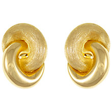 Buy Eclectica Vintage 1970s Christian Dior Gold Plated Knot Clip-On Earrings, Gold Online at johnlewis.com