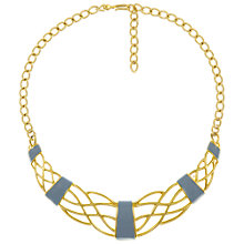 Buy Eclectica Vintage 1980s Monet Statement Gold Plated Necklace, Grey/Gold Online at johnlewis.com