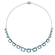 Buy Eclectica Vintage 1930s Glass Set Necklace, Turquoise/Silver Online at johnlewis.com