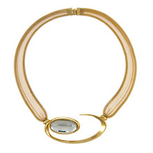 Buy Eclectica Vintage 1980s Mesh Gold Plated Collar Necklace, Grey/Gold Online at johnlewis.com
