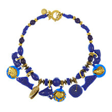 Buy Eclectica Vintage 1980s Reminiscence Gold Plated Necklace, Blue/Gold Online at johnlewis.com