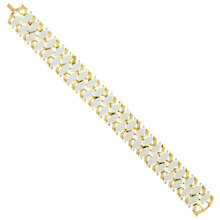Buy Eclectica Vintage 1970s Enamel Gold Plated Bracelet, Gold/White Online at johnlewis.com