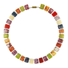 Buy Eclectica Vintage 1960s Faux Agate Glass Necklace, Multi Online at johnlewis.com