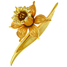 Buy Eclectica Vintage 1950s Trifari Gold Plated Brooch, Gold Online at johnlewis.com