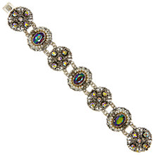 Buy Eclectica Vintage 1950s Filagree Glass Silver Plated Bracelet, Purple/Silver Online at johnlewis.com