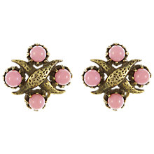 Buy Eclectica Vintage 1950s Mitchell Maer Gold Plated Glass Clip-On Earrings, Pink Online at johnlewis.com