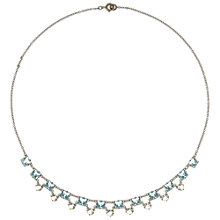 Buy Eclectica Vintage 1930s Glass Necklace, Silver/Blue Online at johnlewis.com