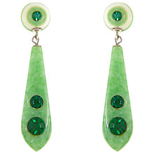 Buy Eclectica Vintage 1930s Bakelite Drop Earrings, Green Online at johnlewis.com