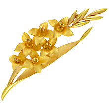 Buy Eclectica Vintage 1960s Trifari Gladioli Brooch, Gold Online at johnlewis.com