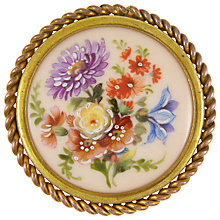 Buy Eclectica Vintage 1940s Limouge Porcelain Brooch, Gold Online at johnlewis.com