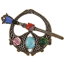 Buy Eclectica Vintage 1960s Celtic Miracle Silver Plated Brooch, Pewter Online at johnlewis.com