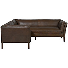 Buy Halo Groucho Aniline Leather Small Corner Sofa Online at johnlewis.com