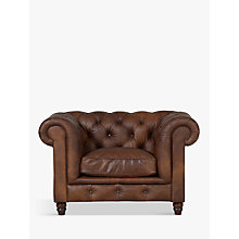 Buy Halo Earle Aniline Leather Armchair, Antique Whisky Online at johnlewis.com