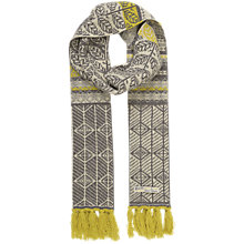Buy Seasalt Roselyn Leaf Aran Scarf, Mustard Online at johnlewis.com