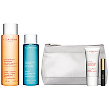 Buy Clarins Extra-Comfort Toning Lotion - For Dry/Sensitive Skin, 200ml and Gentle Eye Makeup Remover Lotion, 125ml with FREE Summer Beauty Duo Online at johnlewis.com
