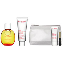 Buy Clarins Eau Des Jardins, 100ml and Hand and Nail Treatment Cream, 100ml with FREE Summer Beauty Duo Online at johnlewis.com