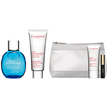Buy Clarins Eau Ressourçante Spray, 100ml and Hand and Nail Treatment Cream, 100ml with FREE Summer Beauty Duo Online at johnlewis.com