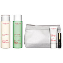 Buy Clarins Cleansing Milk - For Combination/Oily Skin, 200ml and Toning Lotion - For Combination/Oily Skin, 200ml with FREE Summer Beauty Duo Online at johnlewis.com