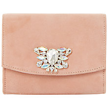 Buy Dune Bernadette Bejewelled Clutch Bag, Blush Online at johnlewis.com