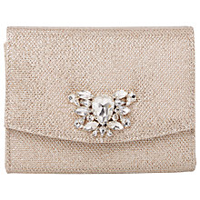 Buy Dune Bernadette Bejewelled Clutch Bag, Gold Online at johnlewis.com