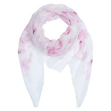 Buy Hobbs Silk Magnolia Scarf, Pink Online at johnlewis.com